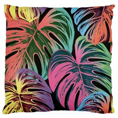 Leaves Tropical Jungle Pattern Large Cushion Case (two Sides) by Nexatart