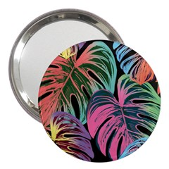 Leaves Tropical Jungle Pattern 3  Handbag Mirrors