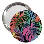 Leaves Tropical Jungle Pattern 3  Handbag Mirrors Front