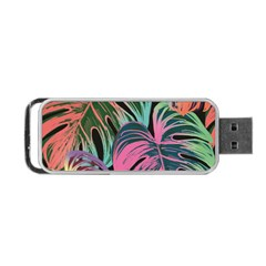 Leaves Tropical Jungle Pattern Portable Usb Flash (two Sides)