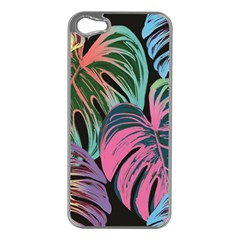 Leaves Tropical Jungle Pattern Apple Iphone 5 Case (silver)