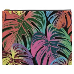 Leaves Tropical Jungle Pattern Cosmetic Bag (xxxl)