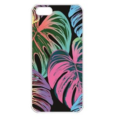 Leaves Tropical Jungle Pattern Apple Iphone 5 Seamless Case (white)