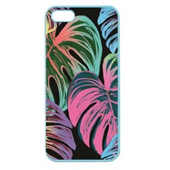 Leaves Tropical Jungle Pattern Apple Seamless Iphone 5 Case (color) by Nexatart