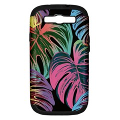 Leaves Tropical Jungle Pattern Samsung Galaxy S Iii Hardshell Case (pc+silicone)