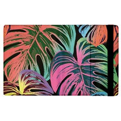 Leaves Tropical Jungle Pattern Apple Ipad 2 Flip Case