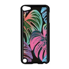 Leaves Tropical Jungle Pattern Apple Ipod Touch 5 Case (black)