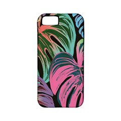 Leaves Tropical Jungle Pattern Apple Iphone 5 Classic Hardshell Case (pc+silicone) by Nexatart