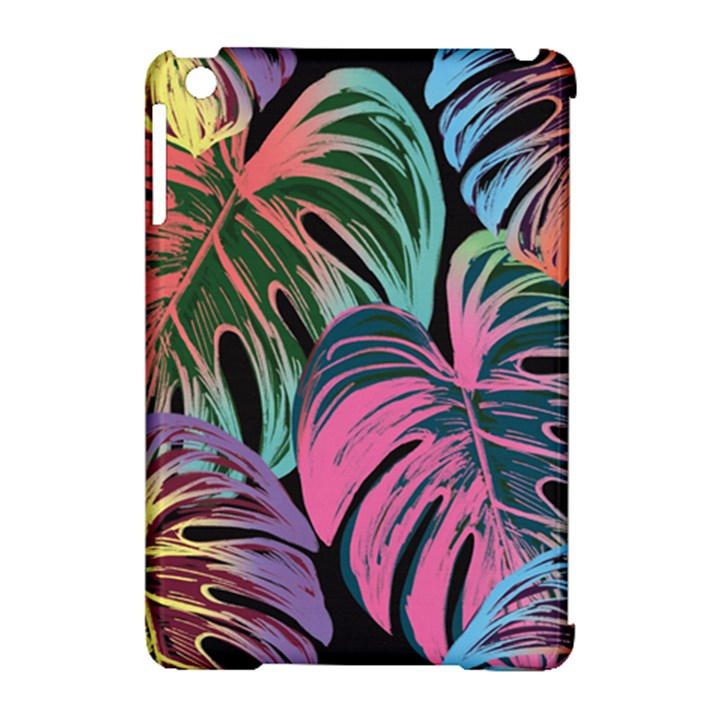 Leaves Tropical Jungle Pattern Apple iPad Mini Hardshell Case (Compatible with Smart Cover)
