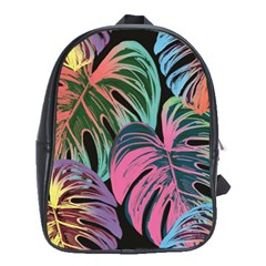 Leaves Tropical Jungle Pattern School Bag (xl)