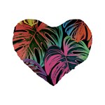 Leaves Tropical Jungle Pattern Standard 16  Premium Heart Shape Cushions Front