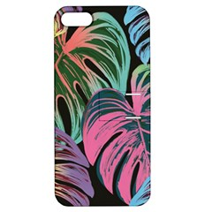 Leaves Tropical Jungle Pattern Apple Iphone 5 Hardshell Case With Stand