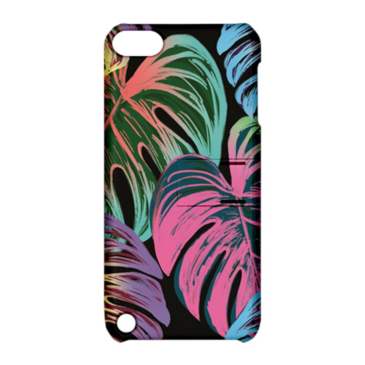 Leaves Tropical Jungle Pattern Apple iPod Touch 5 Hardshell Case with Stand