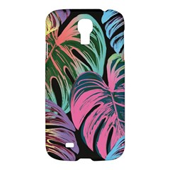 Leaves Tropical Jungle Pattern Samsung Galaxy S4 I9500/i9505 Hardshell Case by Nexatart