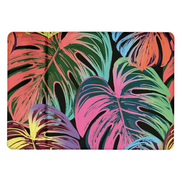Leaves Tropical Jungle Pattern Samsung Galaxy Tab 10.1  P7500 Flip Case