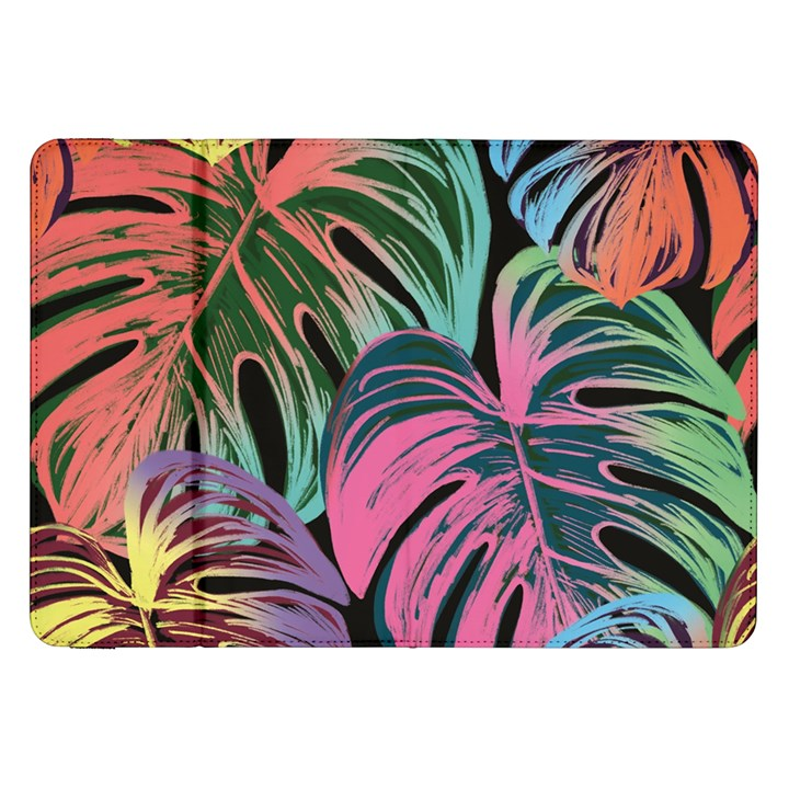 Leaves Tropical Jungle Pattern Samsung Galaxy Tab 8.9  P7300 Flip Case