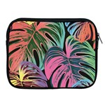 Leaves Tropical Jungle Pattern Apple iPad 2/3/4 Zipper Cases Front
