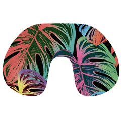 Leaves Tropical Jungle Pattern Travel Neck Pillows