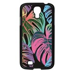 Leaves Tropical Jungle Pattern Samsung Galaxy S4 I9500/ I9505 Case (Black) Front