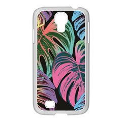 Leaves Tropical Jungle Pattern Samsung Galaxy S4 I9500/ I9505 Case (white) by Nexatart