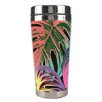 Leaves Tropical Jungle Pattern Stainless Steel Travel Tumblers Left