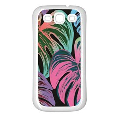 Leaves Tropical Jungle Pattern Samsung Galaxy S3 Back Case (white) by Nexatart
