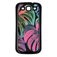 Leaves Tropical Jungle Pattern Samsung Galaxy S3 Back Case (black)