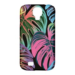 Leaves Tropical Jungle Pattern Samsung Galaxy S4 Classic Hardshell Case (pc+silicone)
