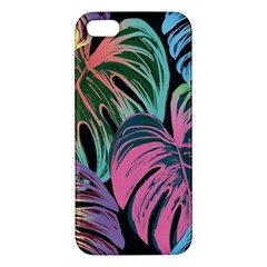 Leaves Tropical Jungle Pattern Iphone 5s/ Se Premium Hardshell Case by Nexatart
