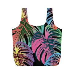 Leaves Tropical Jungle Pattern Full Print Recycle Bag (m)