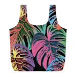 Leaves Tropical Jungle Pattern Full Print Recycle Bag (L) Back