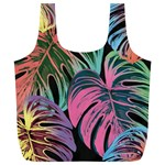 Leaves Tropical Jungle Pattern Full Print Recycle Bag (XL) Front