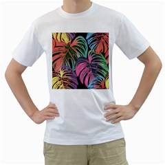 Leaves Tropical Jungle Pattern Men s T Shirt (white)