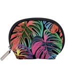 Leaves Tropical Jungle Pattern Accessory Pouch (Small) Front