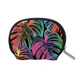Leaves Tropical Jungle Pattern Accessory Pouch (Small) Back