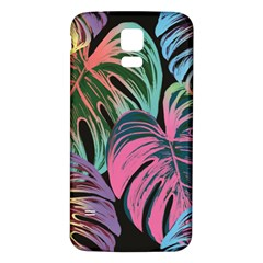 Leaves Tropical Jungle Pattern Samsung Galaxy S5 Back Case (white) by Nexatart