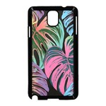 Leaves Tropical Jungle Pattern Samsung Galaxy Note 3 Neo Hardshell Case (Black) Front