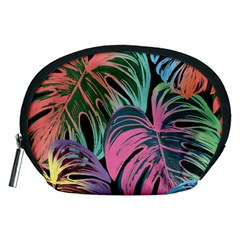 Leaves Tropical Jungle Pattern Accessory Pouch (medium)