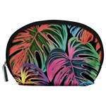 Leaves Tropical Jungle Pattern Accessory Pouch (Large) Front