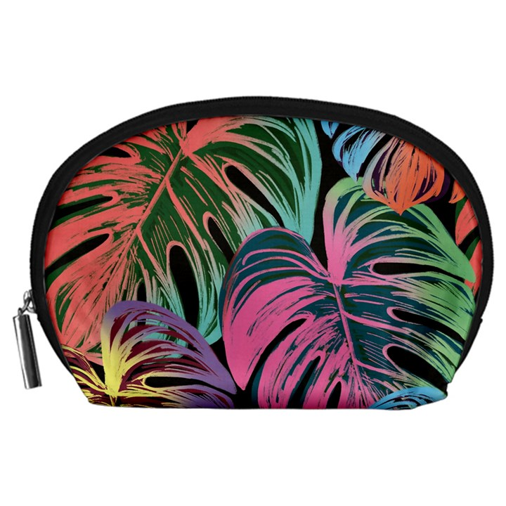 Leaves Tropical Jungle Pattern Accessory Pouch (Large)