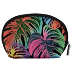 Leaves Tropical Jungle Pattern Accessory Pouch (Large) Back