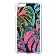 Leaves Tropical Jungle Pattern Apple Iphone 6 Plus/6s Plus Enamel White Case by Nexatart