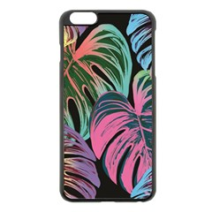 Leaves Tropical Jungle Pattern Apple Iphone 6 Plus/6s Plus Black Enamel Case