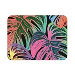 Leaves Tropical Jungle Pattern Double Sided Flano Blanket (Mini)  35 x27 Blanket Front