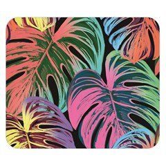 Leaves Tropical Jungle Pattern Double Sided Flano Blanket (small)