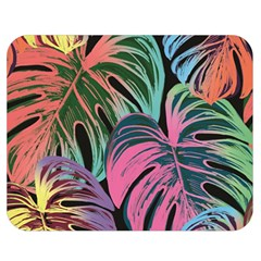 Leaves Tropical Jungle Pattern Double Sided Flano Blanket (medium)