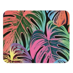 Leaves Tropical Jungle Pattern Double Sided Flano Blanket (large)  by Nexatart
