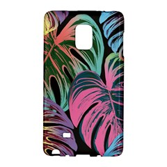 Leaves Tropical Jungle Pattern Samsung Galaxy Note Edge Hardshell Case by Nexatart