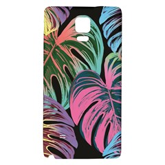 Leaves Tropical Jungle Pattern Samsung Note 4 Hardshell Back Case by Nexatart
