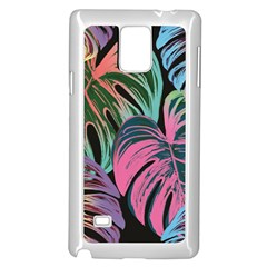 Leaves Tropical Jungle Pattern Samsung Galaxy Note 4 Case (white)